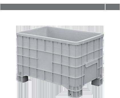 Grandes contenedores y palets